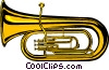 Vector Clipart graphic  of a Tuba