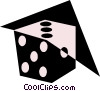 Vector Clip Art image  of a Symbol of dice