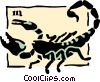 Vector Clip Art graphic  of a Sign of the zodiac - Scorpio