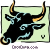 Sign of the zodiac - Taurus Vector Clipart image