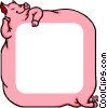 Vector Clipart picture  of a Pig background
