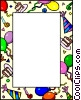 Vector Clipart image  of a Birthday border