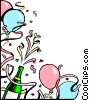 Champagne background Vector Clip Art graphic