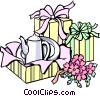 Vector Clipart image  of a Shower gifts
