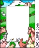 Vector Clipart picture  of a Farm background