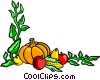Fall harvest background Vector Clipart illustration