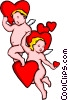 Vector Clipart illustration  of a Valentines Day with Cupid