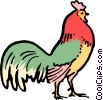 Vector Clipart graphic  of a Cartoon rooster