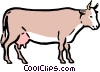 Cartoon cow Vector Clipart picture