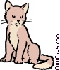 Cartoon cat Vector Clipart illustration