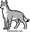 Vector Clip Art graphic  of a Cartoon wolf