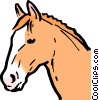 Cartoon horse Vector Clipart graphic