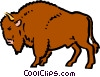 Vector Clipart picture  of a Cartoon buffalo