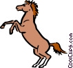 Vector Clipart illustration  of a Cartoon horse