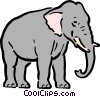Vector Clipart illustration  of a Cartoon elephant
