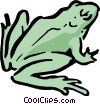 Vector Clip Art graphic  of a Cartoon frog