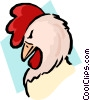 Cartoon rooster Vector Clipart illustration