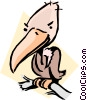 Cartoon vulture Vector Clipart picture