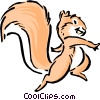 Vector Clip Art image  of a Cartoon squirrel