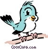 Vector Clipart graphic  of a Cartoon bird