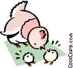 Vector Clipart picture  of a Cartoon chicken