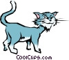 Cartoon cat Vector Clipart graphic