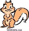 Vector Clipart illustration  of a Cartoon squirrel