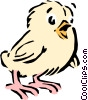 Vector Clip Art picture  of a Cartoon chick