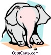 Vector Clipart image  of a Cartoon elephant