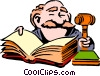 Cartoon judge Vector Clipart illustration