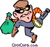Vector Clip Art image  of a Thief