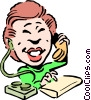 Vector Clip Art image  of a Cartoon receptionist