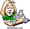 Vector Clip Art graphic  of a Cartoon designer