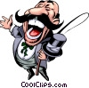 Vector Clipart graphic  of a Circus ringmaster