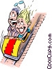 Vector Clipart graphic  of a Cartoon roller coaster