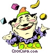Vector Clip Art image  of a Cartoon circus clown