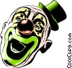 Vector Clip Art graphic  of a Cartoon clown