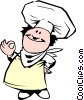 Cartoon chef Vector Clipart illustration