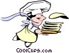 Vector Clip Art picture  of a Cartoon crepes chef