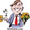 Cartoon date Vector Clipart picture