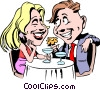 Vector Clip Art image  of a Cartoon date
