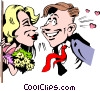 Cartoon date Vector Clipart image
