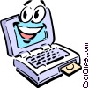 Vector Clip Art graphic  of a Cartoon computer