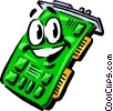 Vector Clipart illustration  of a Cartoon circuit board