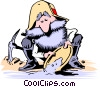 Vector Clip Art image  of a Cartoon prospector