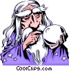 Vector Clipart graphic  of a Cartoon Merlin