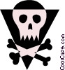 Skull & crossbones Vector Clipart picture