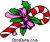 Christmas candy cane Vector Clipart illustration