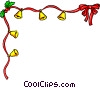 Vector Clip Art graphic  of a Christmas decorative ribbon