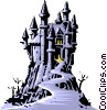 Cartoon castle Vector Clipart graphic